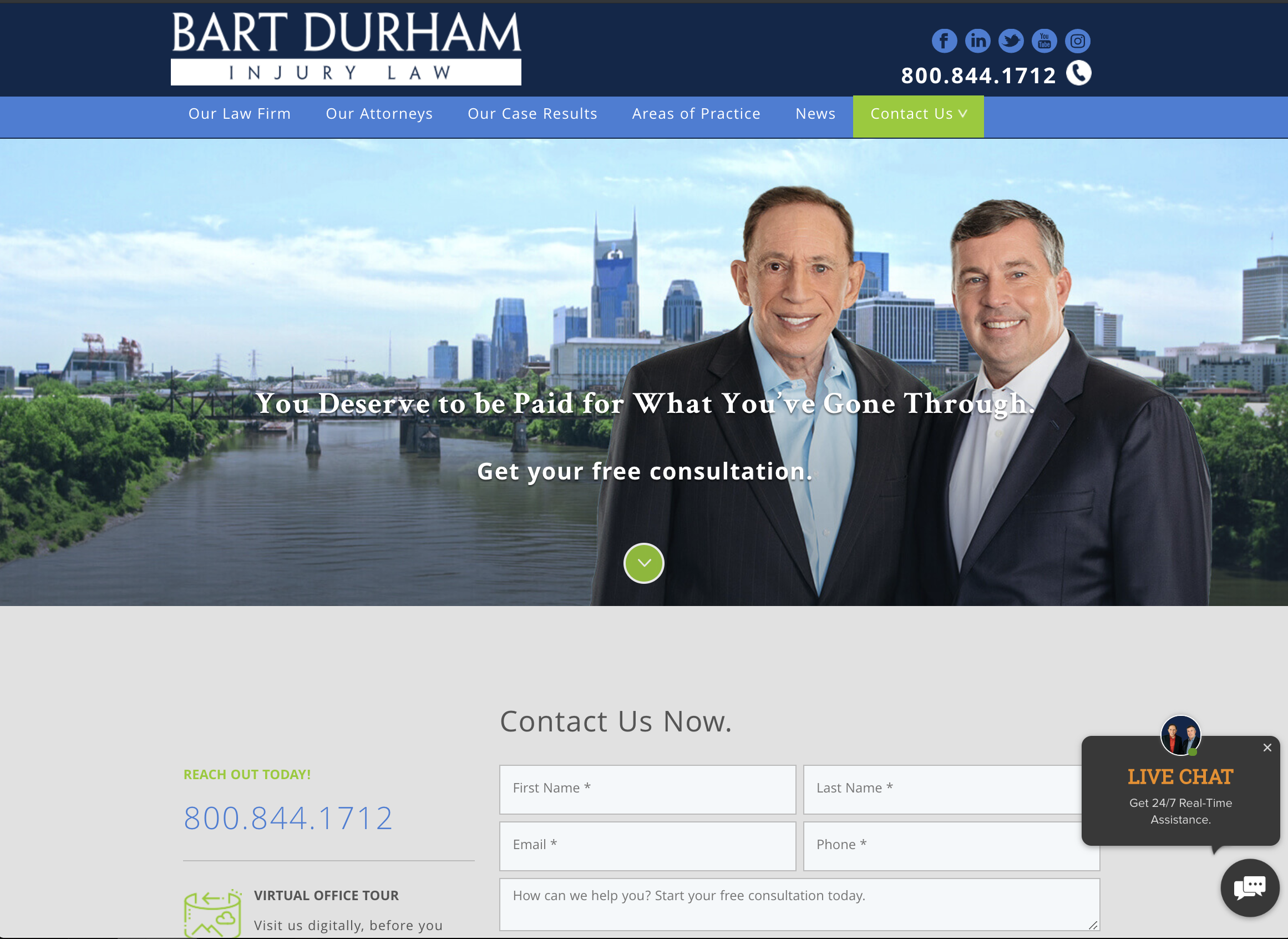 Bart Durham Injury Law works with Horton Group, a Nashville Web Design and Web Development Agency offering Digital Marketing Services