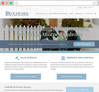 legal practice website design example