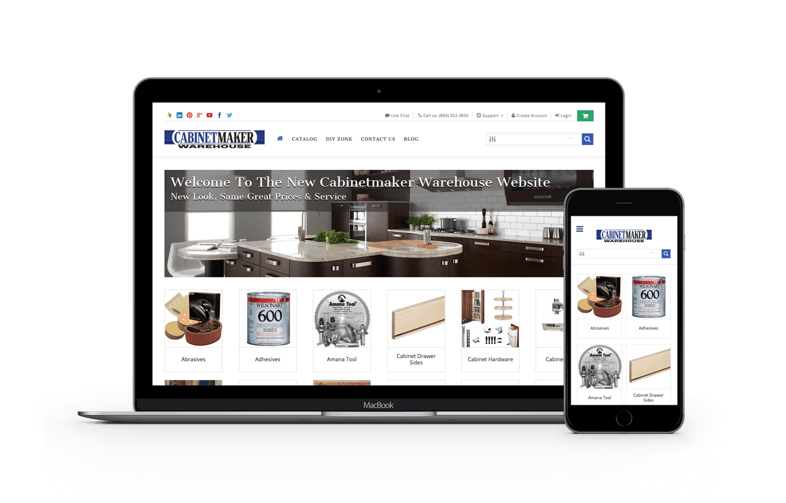 Cabinetmaker Warehouse ecommerce website