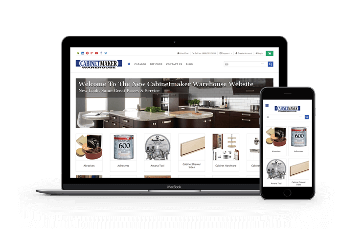 Cabinetmaker Warehouse eCommerce Website Thumbnail