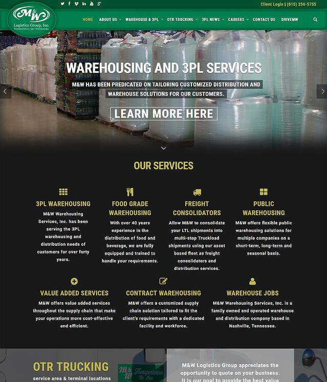 3rd Party Logistics Website Design