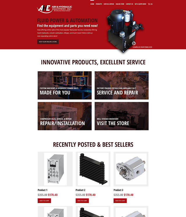 Website Development for Air and Hydraulic Automation