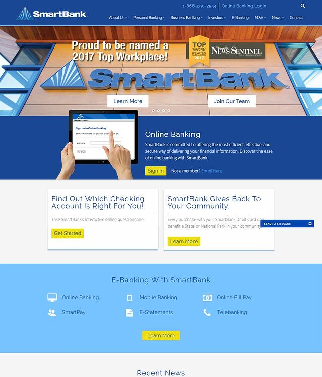 Bank and Financial Institution Website Development
