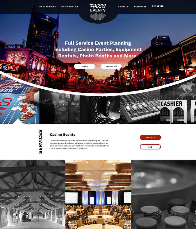 Web Design for Event Planners FADDS Full Service Event Planning