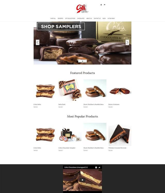 Food Retailer Website Design