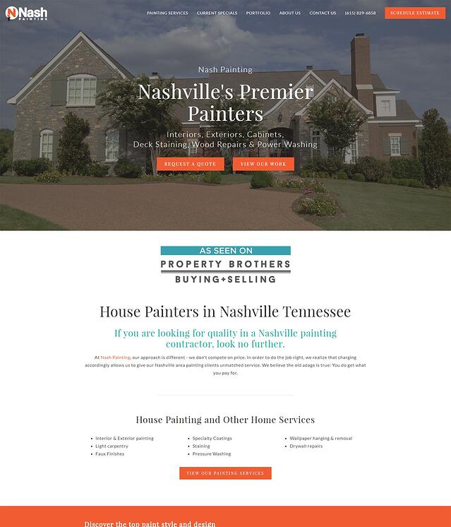Home Improvement Services Website Design