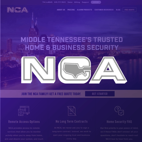 Website Design for Access Control Security Systems NCA Alarms for the Website of the Best Web Design in Nashville TN, Horton Group who also provides Nashville SEO, Inbound Marketing and Web Support.