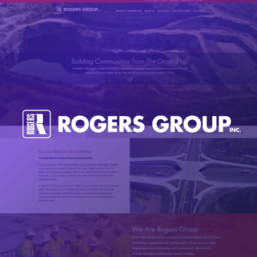 Website Design for Rogers Group Construction Aggregate Materials for the Website of the Best Web Design in Nashville TN, Horton Group who also provides Nashville SEO, Inbound Marketing and Web Support.