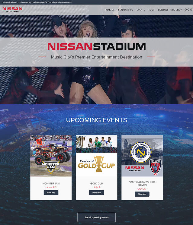 Nissan Stadium Websites for Stadiums