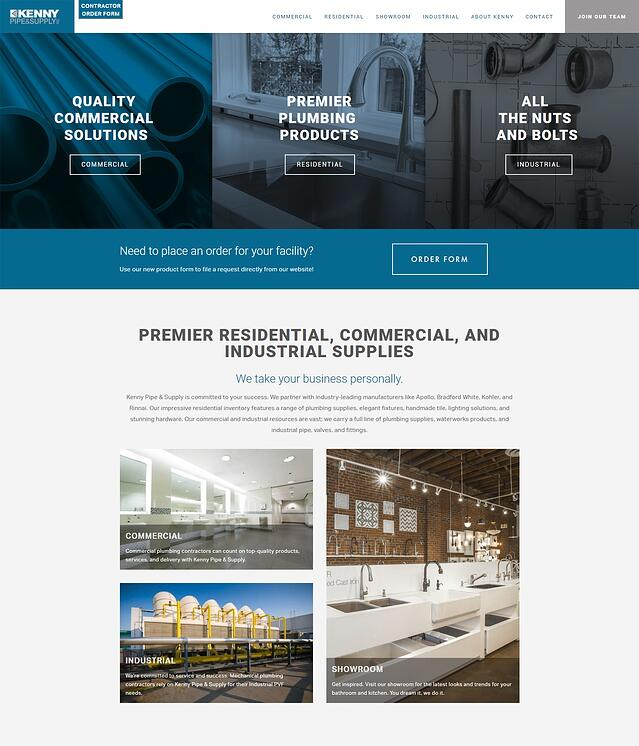 Commercial Supply Website Design