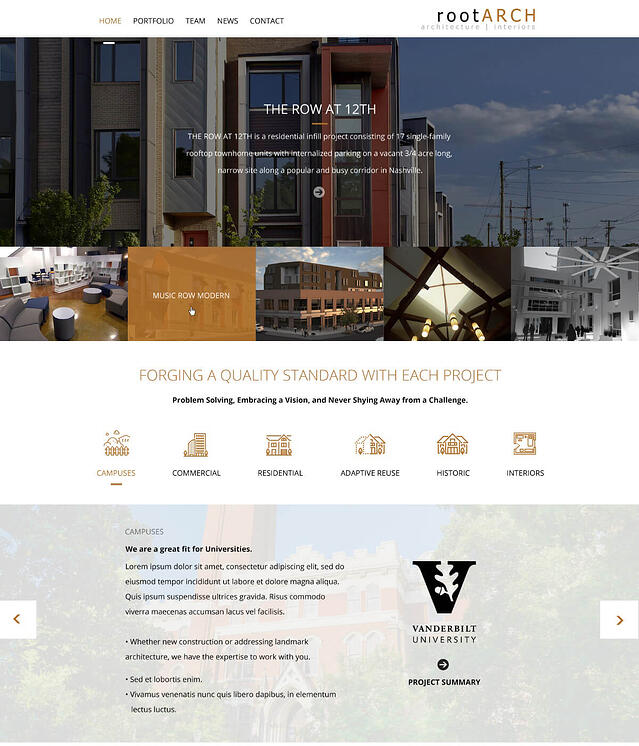 Web Design for Architect Firms Root Architecture and Interiors