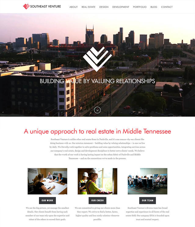 Southeast Venture Website Design for Commercial Real Estate Firms