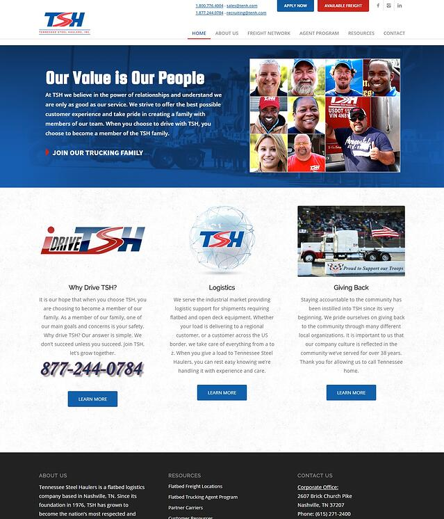 Trucking & Logistics Website Design