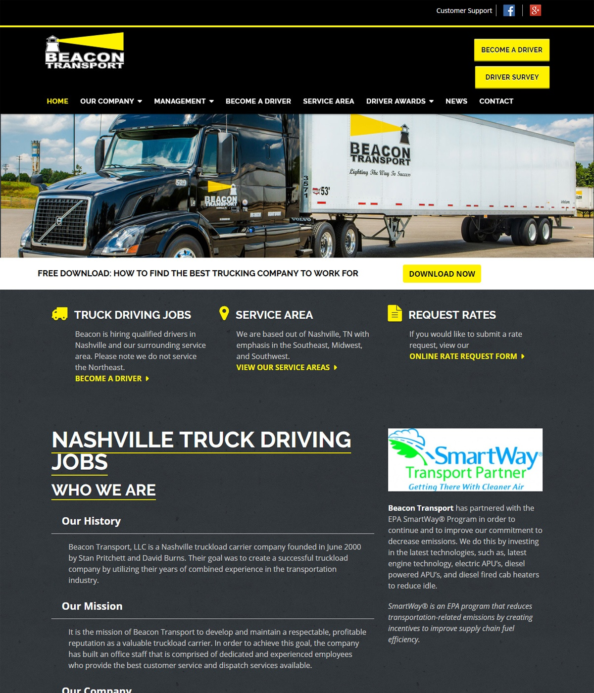 Logistics Website Development