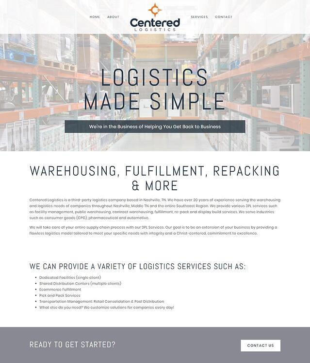 Logistics Company Web Design