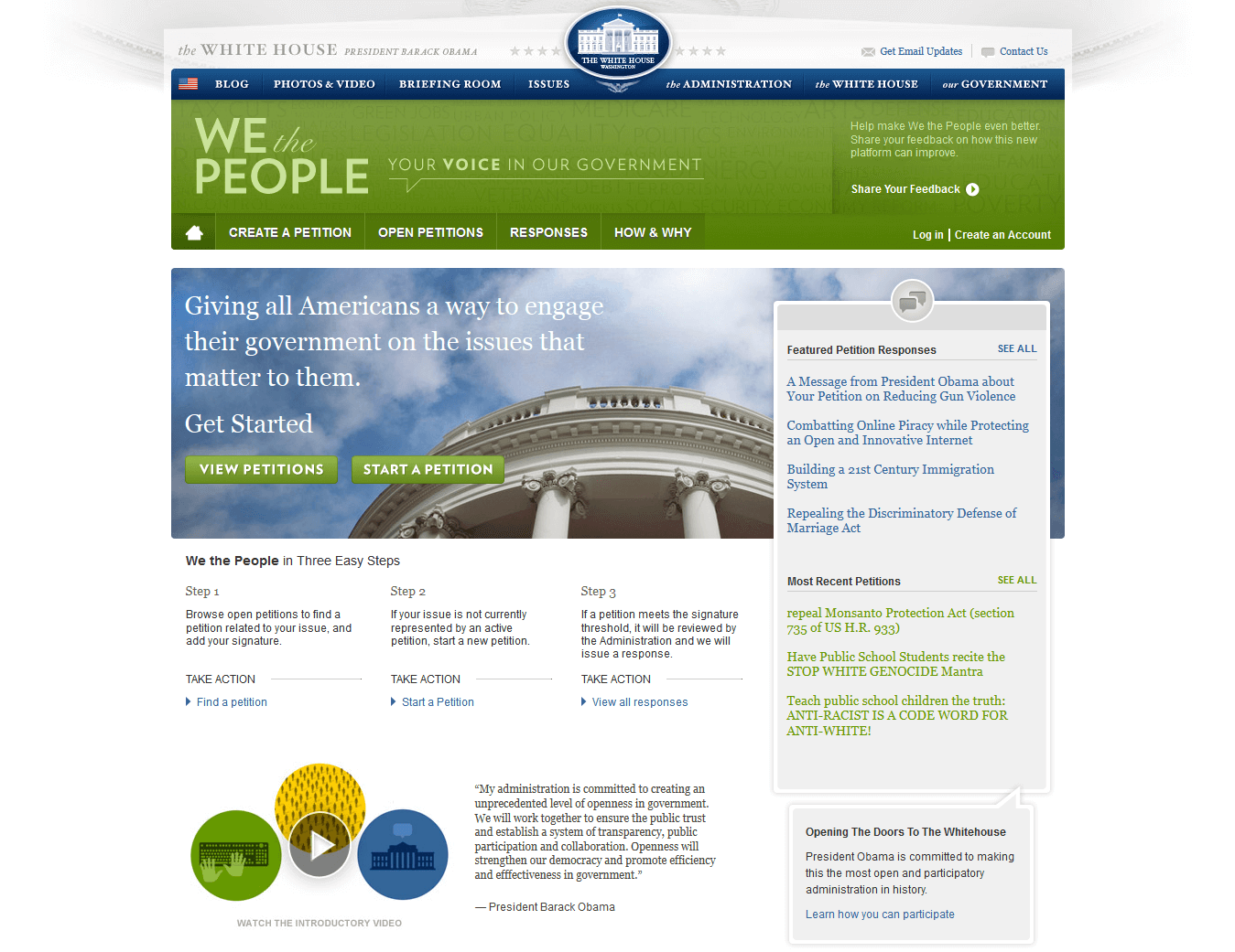 We the People Drupal Site