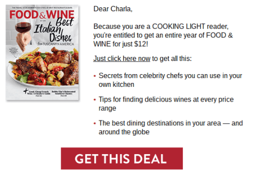 email marketing example 5