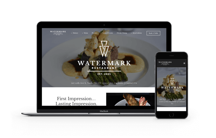 Web Design Nashville Restaurant
